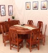 亿工坊.刺猬紫檀餐桌