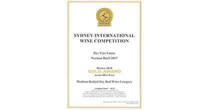 FWE璧聚商贸荣获2018悉尼国际葡萄酒竞赛金奖