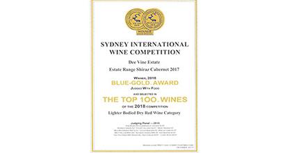 FWE璧聚商贸荣获2018悉尼国际葡萄酒竞赛蓝金奖