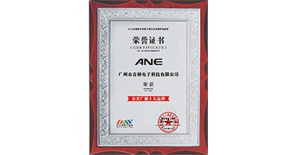ANE荣获公共广播十大品牌
