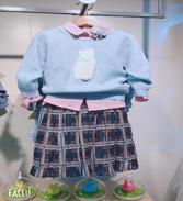 快乐精灵.春款女童格子公主裙