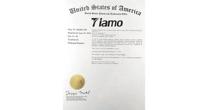 Tiamo泰摩荣获荣誉证书2