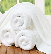 洁瑞雅.白色纯棉毛巾