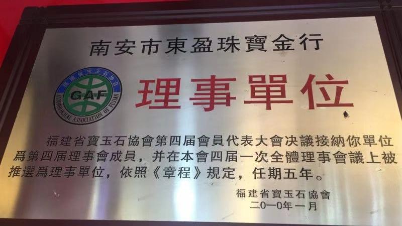 东盈荣获《理事单位》