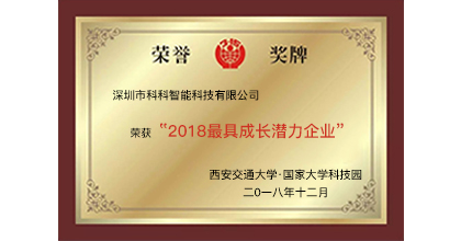 PTE.AI荣获2018年最具成长潜力企业