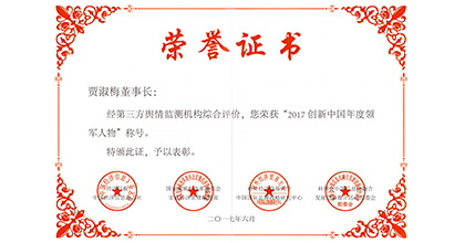 龙腾科技荣获创新中国领军人物称号
